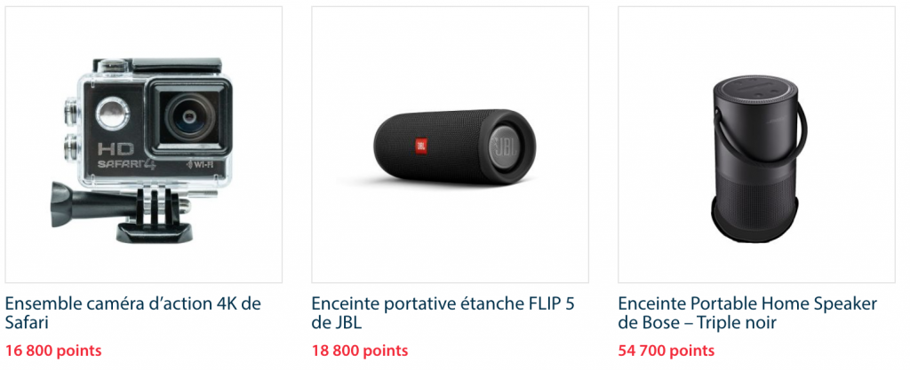 Exemple de produit boutique en ligne récompenses BNC